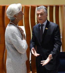 El presidente Mauricio Macri y Christine Lagarde, la titular del FMI, en una reunión en Alemania en julio pasado. (DYN)