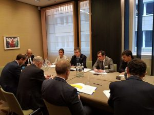 Delegación de Agroindustria con el Comisario europeo, Vytenis Andriukaitis.