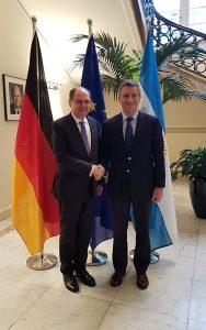 Etchevehere junto al ministro de Alemania, Christian Schmidt.