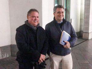 Luis Miguel Etchevehere junto a Blairo Maggi.